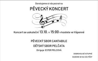 Pěvecký koncert v kostele ve Vápenné